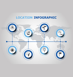 infographic design with location icons vector image