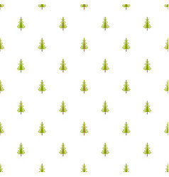 larch tree pattern seamless vector image