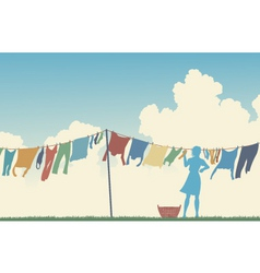 laundry day vector image
