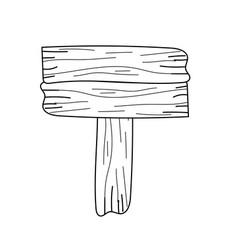Line nice retangular wood emblem design vector