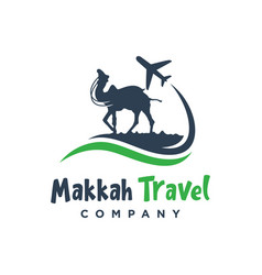 logo design trip to saudi arabia vector image