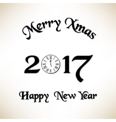 Merry Christmas and New Year eve vector image