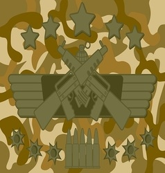 Military logo rifleman vector