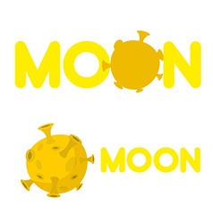 Moon Companys logo with a yellow planet vector