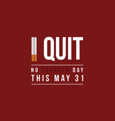 No tobacco day background flat vector