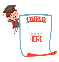Of student showing diploma vector