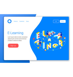 Online education design concept vector