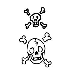 Punk rock skulls clipart vector