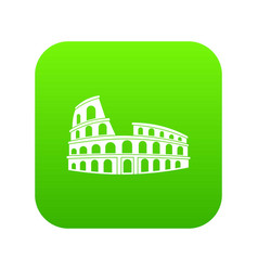 roman colosseum icon digital green vector image