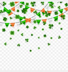 Saint patricks day border with green four vector