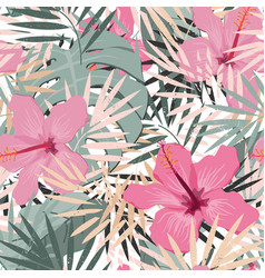 Seamless floral summer pattern background vector