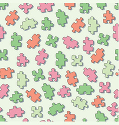 Seamless pattern with puzzles square vector