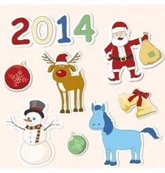 set christmas icons vector image