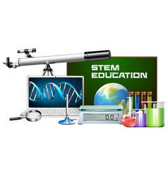 set of technology object stem education vector image