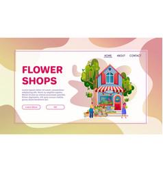 shops facades flat colorful vector image