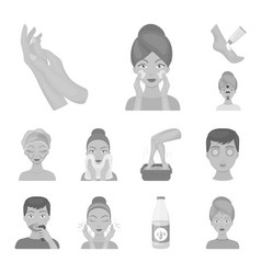 skin care monochrome icons in set collection for vector image