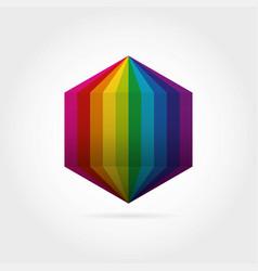smooth color gradient hexagon icon logo vector image