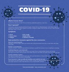 social media post for corona virus vector image