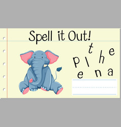 spell english word elephant vector image