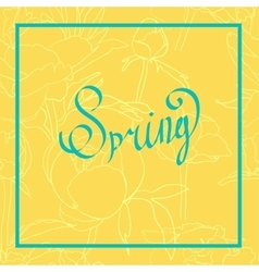 Spring word flowers vector image