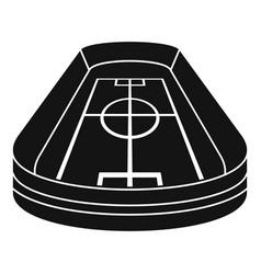 stadium icon simple style vector image
