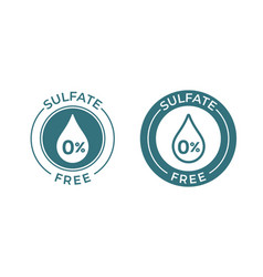 Sulfate free icon sodium and sulfate free product vector