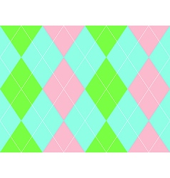 Sweet colors argyle seamless pattern vector image