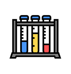 test tube rack color icon isolated vector image