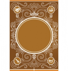thanksgiving frame vector image