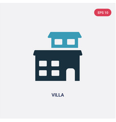 Two color villa icon from real estate concept vector