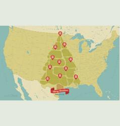 usa map christmas vector image