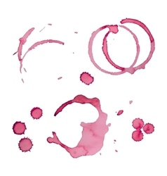 Wine Stain Rings Set 3 vector image