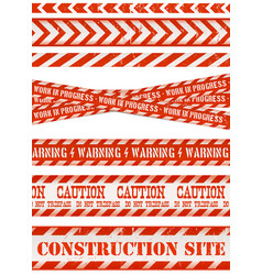 Work line under construction site and red and vector