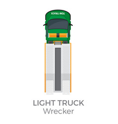 Wrecker light truck top view flat icon vector