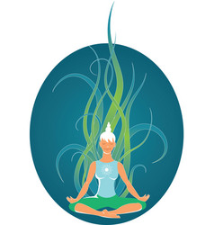 Yoga Meditation vector image