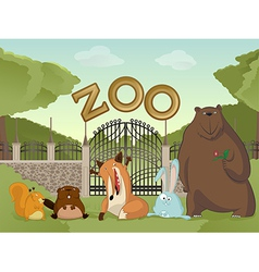 Zoo with forest animals2 vector