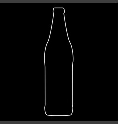 beer bottle white color path icon vector image