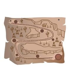 Old treasure map of Indian railway vector image