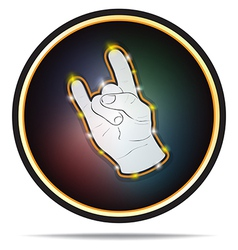 Rock Hand Sign vector image vector image