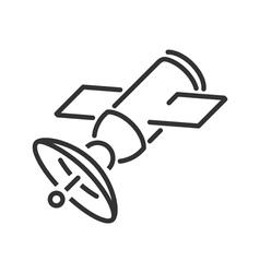 Satellite line icon vector image vector image