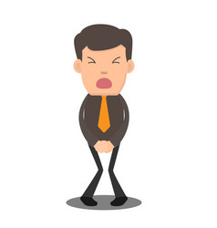 businessman has to pee very urgently business vector image vector image