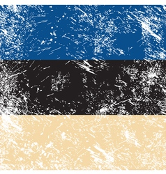 Estonia retro flag vector image vector image