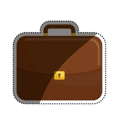Isolated business briefcase vector image
