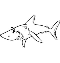 shark animal cartoon coloring book vector image