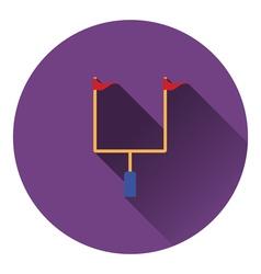 American football goal post icon vector image vector image