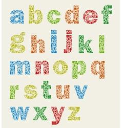 Art alphabet vector