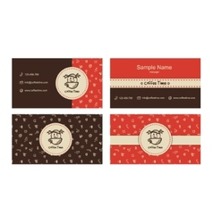 bakery business cards template with logo vector image vector image