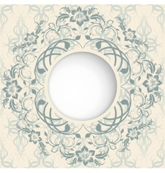 beautiful patterns with place for text vector image vector image
