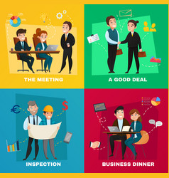 business people concept set vector image vector image