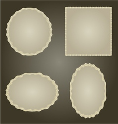 Decorative silver frame Circle oval and square vector image vector image
